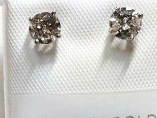 14K White Gold Diamond 0 75Ct I1 I3  G H