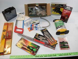 large grouping of unused tools
