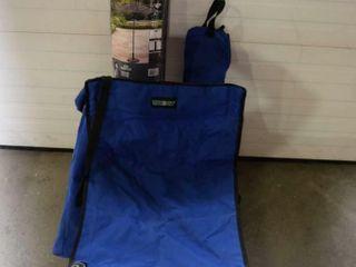 1 Portable Floor model umbrella   2 chairs