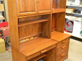 Office Desk with Hutch and Cabinet