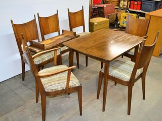 Dining Table with 6 Chairs  4 leaves