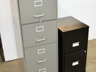 4 Drawer and 2 Drawer Filing Cabinets
