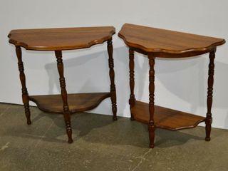 2  Half Moon Tables