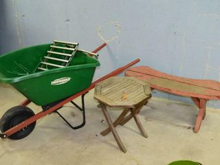 Plastic Wheelbarrow  Bench  Side Table  etc