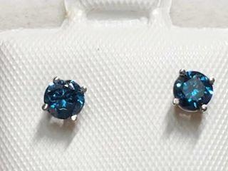 14K White Gold Diamond 0 42Ct  I2 I3 Blue
