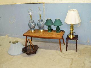 Coffee Table and Table lamps