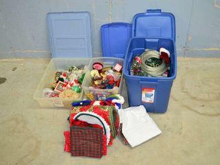 3  Totes of Christmas   Holiday Decor
