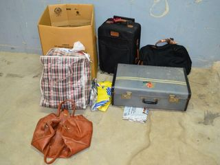 Grp  of Assorted luggage and Bags