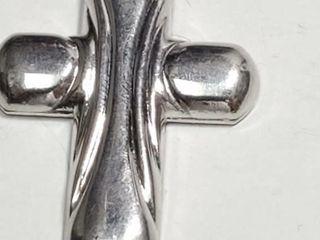 Silver Cross Pendant  weight 3 78g   EC25 45