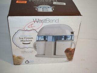 WEST Bend Ice Cream Machine