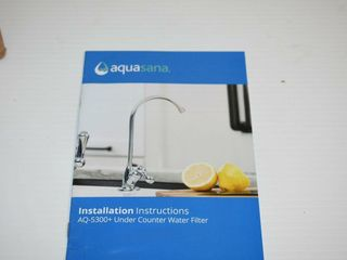 Aquasana Under Counter Water Filter with Bluetooth