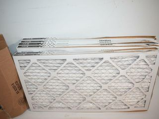 6  Furnace Filters 14  X 25  x1   some damage