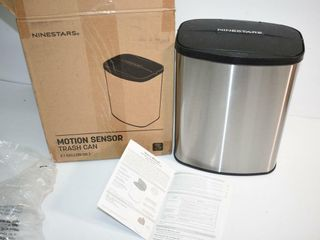 Ninestars Stainless Steel Trash Can  untested