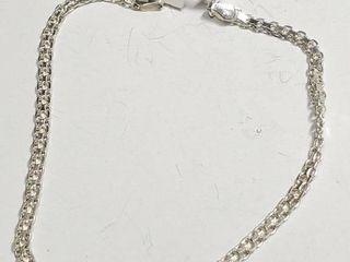 Silver Bracelet  length 8 5cm   EC25 50   D2