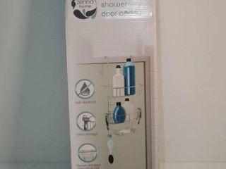 Zenna Home Chrome Shower Door Caddy