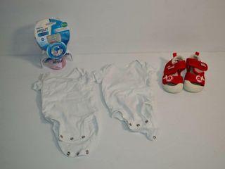2  Newborn Sleepers  Shoes  Bottle