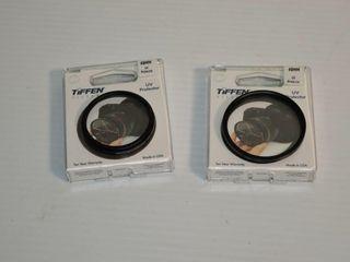 2  Tiffen lens Protectors  49MM   55MM