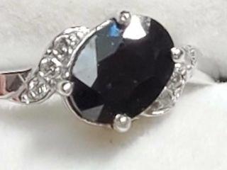 10K Tanzanite 1 05ct  Diamond 0 06Ct  Ring