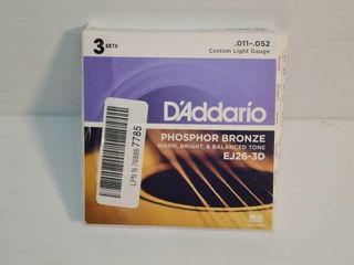 D Addario EJ26 3D Phosphor Bronze Acoustic Guitar