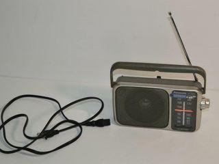 Panasonic Portable Radio AM FM AC DC  Silver