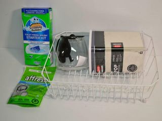 Grp  of Housewares   Disk Rack  Coffee Carafe