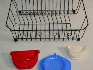 Dish Rack and Dough Press Set of 3