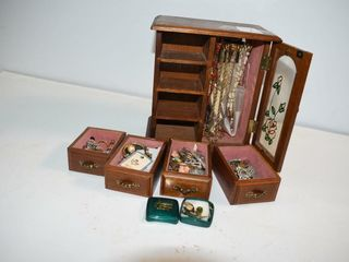 Estate Jewelry Box and Contents
