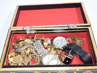 Wood Inlay Box   Men s Estate Jewelry
