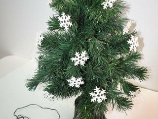 Snowflake Fiber Optic Christmas Tree 30  tall