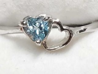 Silver Heart Shaped Ring  Size 6 5   EC25 5