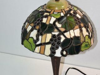 Cast Stain Glass Table lamp 20  tall works
