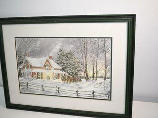 Signed Walter Campbell Sleigh Ride