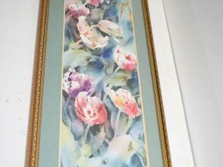 Joyce Kamikura Tulips framed 33  x 16