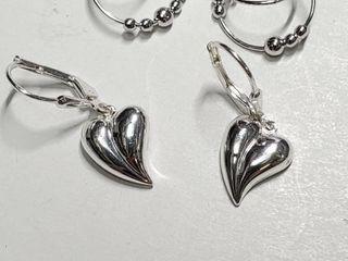 Silver Two Earrings Set  EC25 6   D2