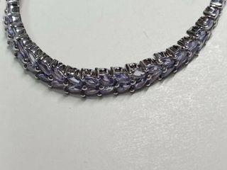 Silver Tanzanite 12 2ct  Bracelet  EC25 7   D2