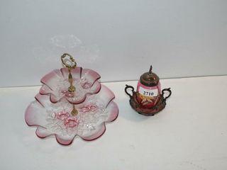 Tiered Platter and Honey Jar