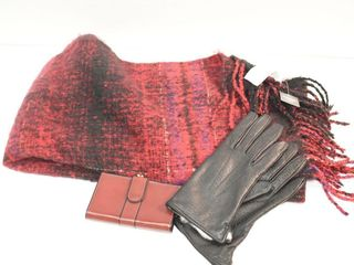 Abercrombie   Fitch Scarf  Cowhide Wallet   Gloves