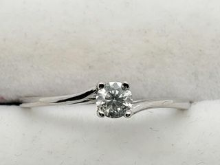 14K White Gold Diamond 0 23Ct I2 H  Ring