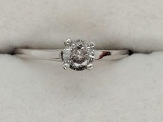 14K White Gold Diamond 0 4Ct  I2 G  Ring