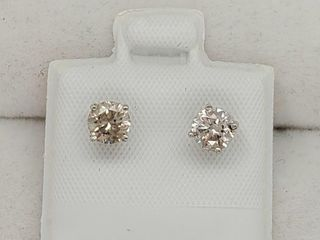 14K White Gold Diamond 0 8Ct I2 I3 I J  Earrings