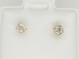 14K Yellow Gold Diamond 0 18ct  Earrings