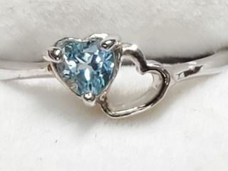 Silver Heart Shaped Ring  Size 6 5