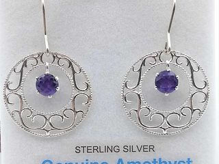 Sterling Silver 5mm genuine Amethyst Briolette