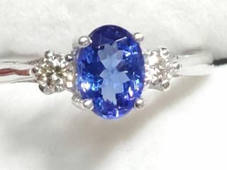 10K White Gold Tanzanite 1ct