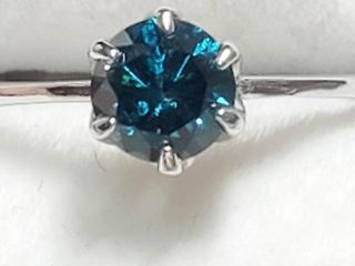 14K White Gold Diamond 0 6Ct  I1  Fancy Vivid