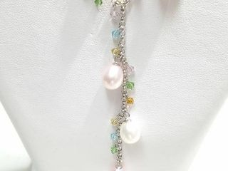 Silver Pearl Nacklace Flexible Necklace  length