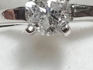 10K White Gold Diamond 0 4Ct I3 F  Ring