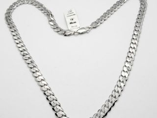 Silver 18  10G Necklace  Approx value  150