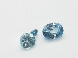 Natural Blue Zircon 2ct  Approx value  100