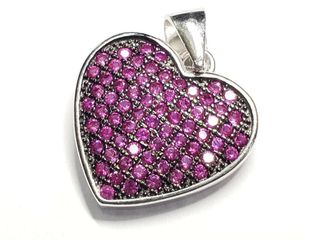 Cubic Zirconia Heart Pendant  Approx value  80